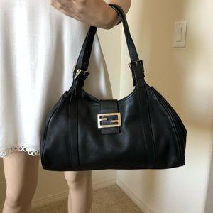 Fendi Lovely Lambskin Double Strap Shoulder Bag
